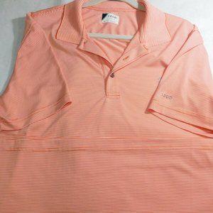 Izod Golf Men's XL Polo Style Orange/White Stripe